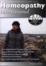 HMAホメオパシーインターナショナル2011冬表紙
