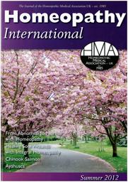 HMAホメオパシーインターナショナル2012夏表紙